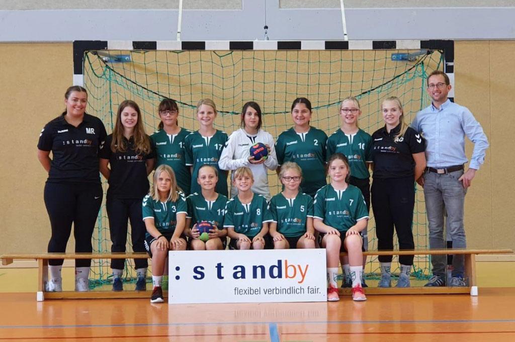 Handball-Mädels-Mannschaft des TSV Dörverden